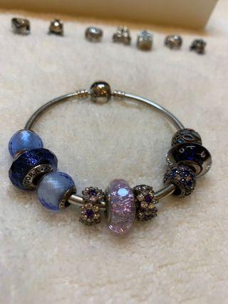 Pandora 潘朵拉藍色系紫色系串飾