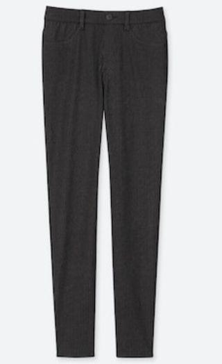 uniqlo forest green midrise jeggings