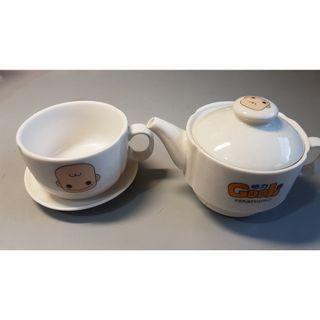 三合一咖啡杯組:咖啡杯、咖啡小茶壺、小碟子