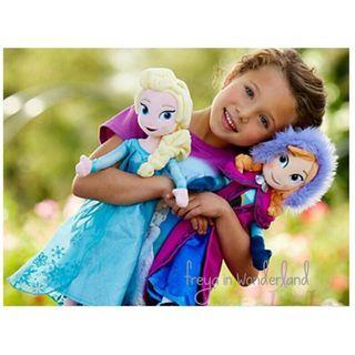 Frozen Elsa Anna Doll Ice Olaf Snow Man Disney Cartoon  Soft toy Plush Perfect Kids Gift Set