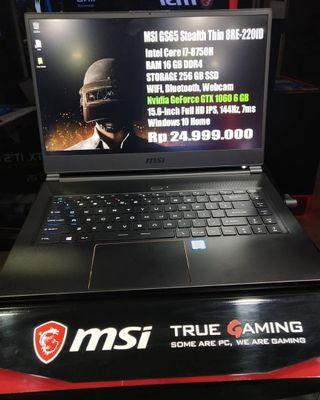 Kredit Laptop MSI GS65 Stealth Thin 8RE-220ID