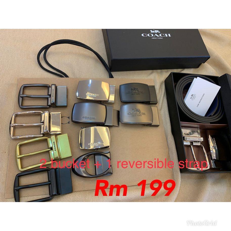 (14/09/19)Ready Stock Authentic coach men belt sling bag wallet purse pouch clutch gift set coach hj
