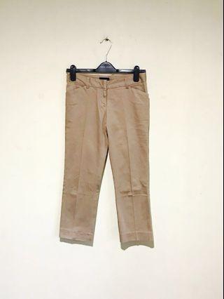 The Executive Versatile Khaki Capri Pants