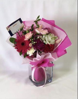 Pink and Red Roses Bouquet