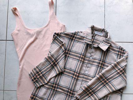 Shirt + singlet dress =Rm 30