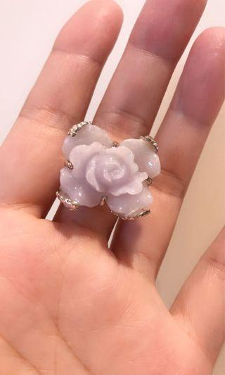 紫羅蘭翡翠戒指💍