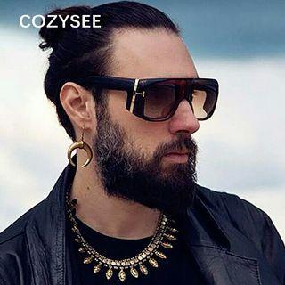 Sunglasses For Men 2019 Fashion Vintage Punk Sun Glasses Male Letter Frame Eyewear