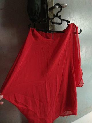 Atasan merah wanita  #bagibagi