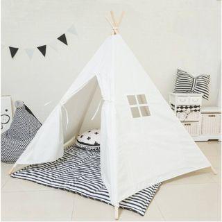 亞麻兒童印第安帳篷