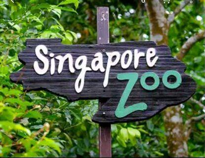 Singapore Zoo with Tram Ride E-ticket (ready 3adults+1kid)