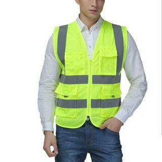 VEST WAISTCOAT TWO INCHES WIDTH REFLECTIVE SAFETY