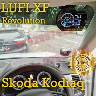 Skoda kodiaq Lufi XF Revolution OBD OBD2 Gauge Meter display #lufi #defi #magician #ultragauge #scangauge