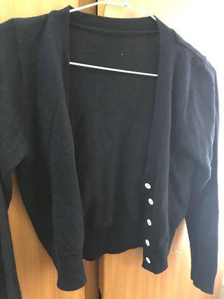 黑色針織外套