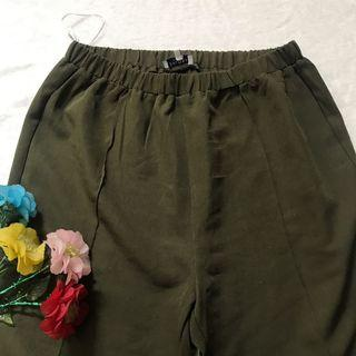 army/olive pants