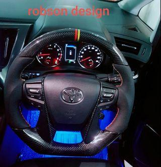 Carbon Fibre Steering Wheel Cover toyota