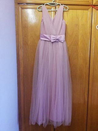 Bridesmaids Purple Pink Dress