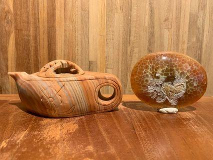 茶壺 石頭 價格、尺寸請看說明 誠意、多個可小議