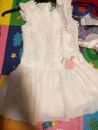 Nicholas and bear white dress 4 years old