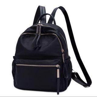 Nylon mini zip backpack