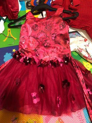 Kate Mack 4 year old red dress
