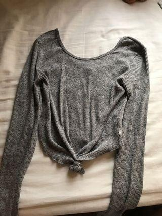 Cotton On Grey Ribbed Top