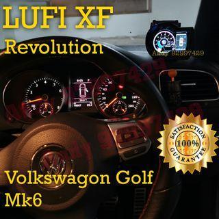 Volkswagen Golf Mk6 Lufi XF Revolution OBD OBD2 Gauge Meter display #lufi #defi #magician #ultragauge #scangauge