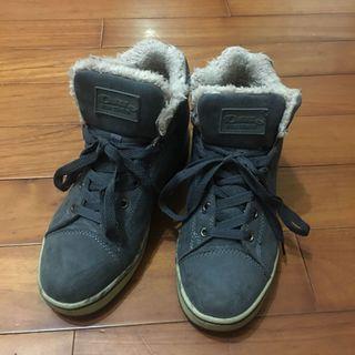 🇰🇷 Ollie 麂皮灰色內鋪毛靴子