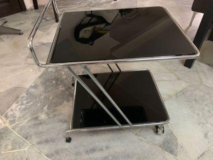 Glass trolley (tempered glass)
