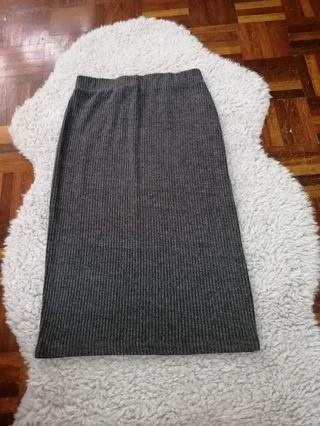 Gray Cotton On Skirt