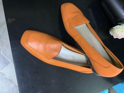 Orange formal shoes
