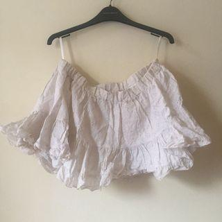 Rok mini putih lolita