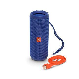 JBL Flip 4 Portable Bluetooth Wireless Speaker Bundle - Blue