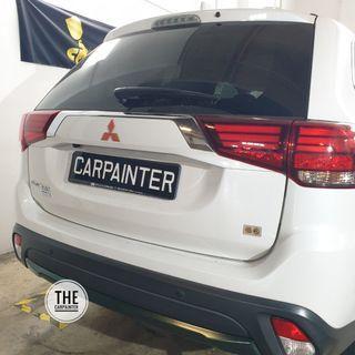 Mitsubishi Outlander Back Bumper Plastidip Plasticdip Plastic Dip Plasti Dip Spray Service