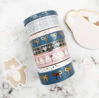 Simply Gilded Northern Comforts & Boba Tea Washi Sample #305