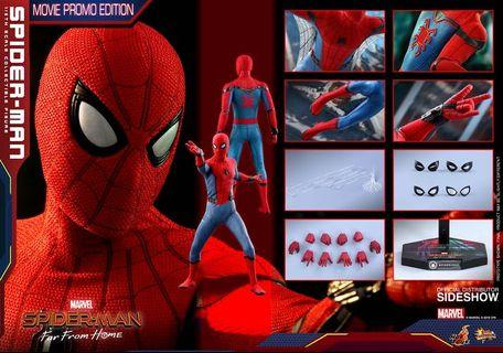 hot toys spider man far from home movie promo edition