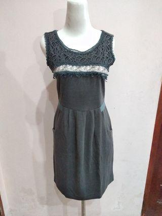Black Dress with Lace terusan hitam brukat
