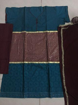 Brand New Semi Stitched 3 Piece Punjabi Suit Material