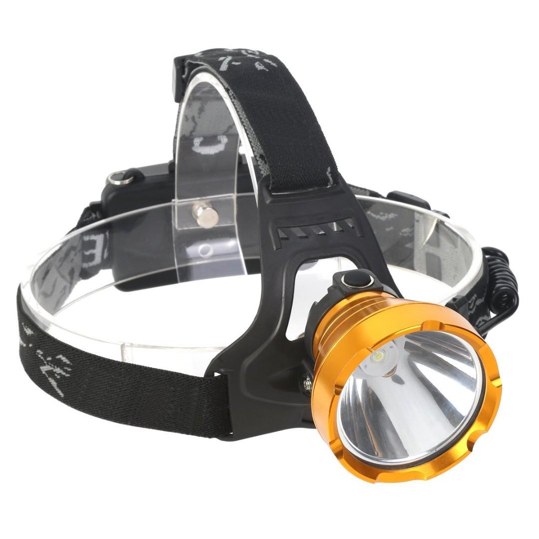 Super Bright Waterproof Head Torch Headlight LED USB Rechargeable Headlamp Fish