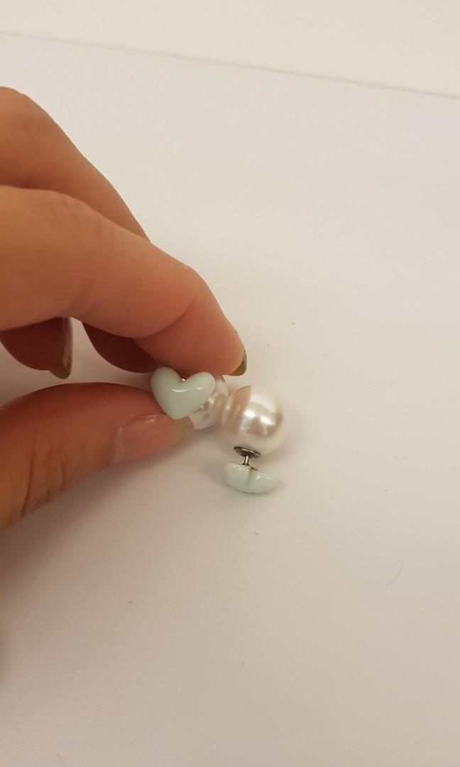 後扣珍珠耳環組