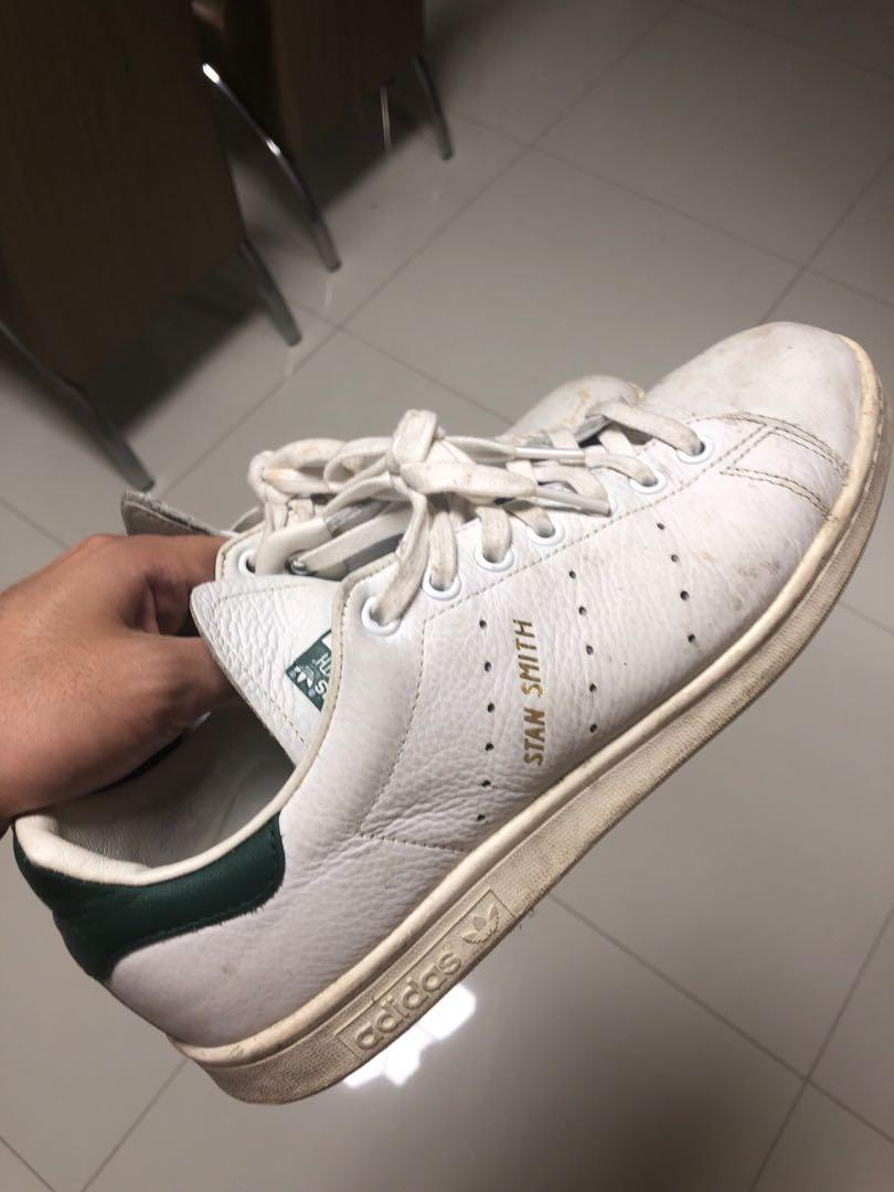 Adidas Stan Smith with Gold Words at