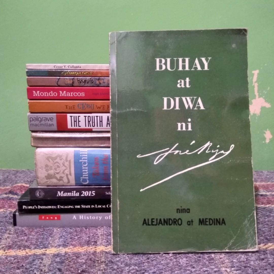 Alejandro, Rufino and Buenaventura S. Medina, Jr. Buhay at Diwa ni Jose Rizal. Mandaluyong: National Book Store, 1972. 213 pp.