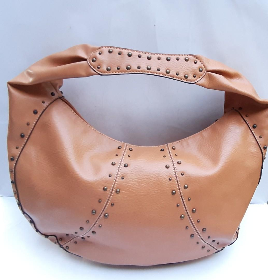 Authentic Nine West Shoulder Hobo Brown Leather + extra wallet👜🛍👛