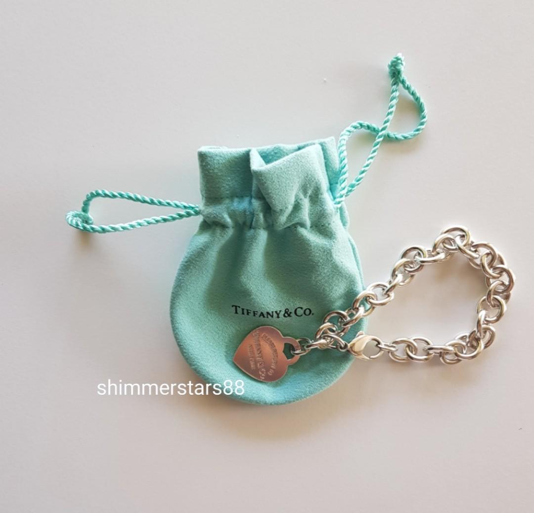Authentic Tiffany &Co Return to Tiffany's Heart Tag Charm Bracelet  RRP$555