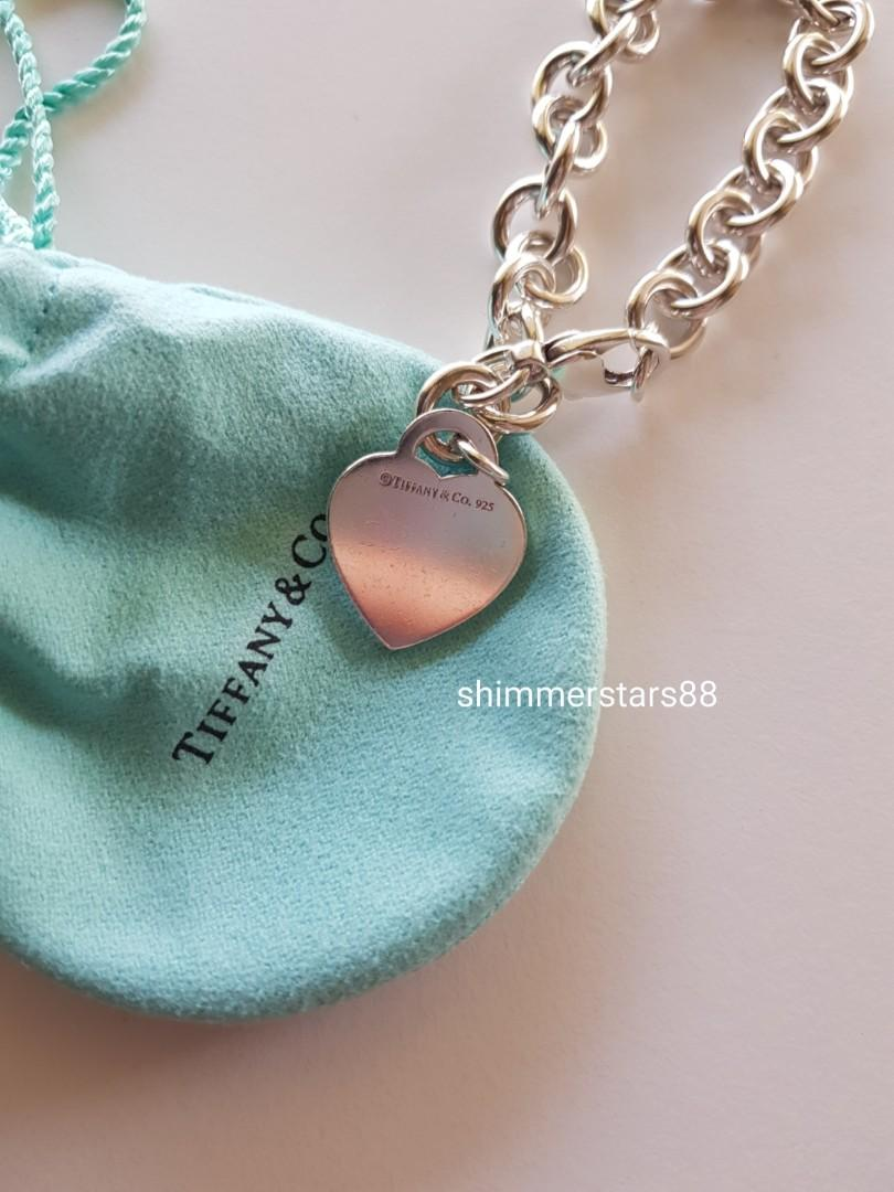 Authentic Tiffany &Co Return to Tiffany's Heart Tag Charm Bracelet  RRP$555