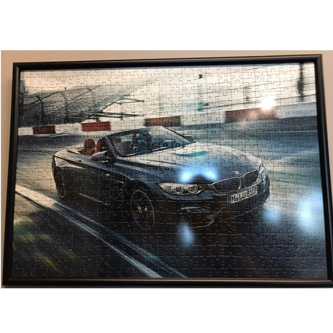 BMW M4 Jigsaw Puzzle with Frame