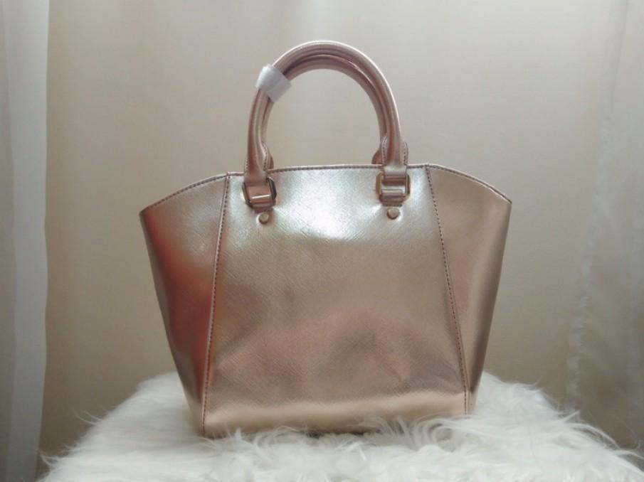 [BN] Vincci Padini Rose Gold Champagne Pink Top Handle Sling Tote Messenger Hand Bag