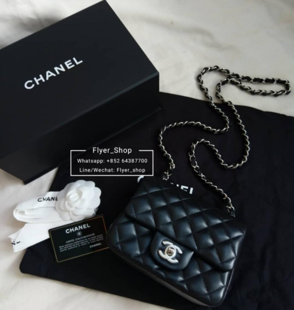 【現貨】Chanel 17cm Square Mini 黑色方胖子包