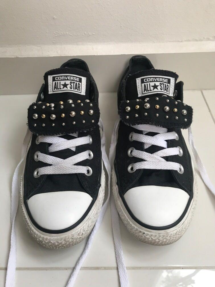 Converse Unisex Black Sneakers Shoes