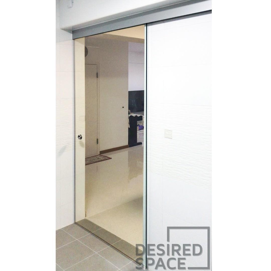 Frameless Tempered Glass Sliding Glass Door