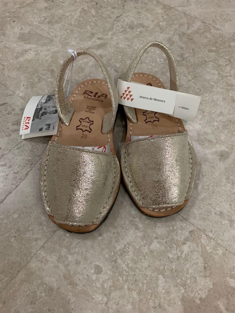 TAN SIZES 4-2 MENORCAN GIRLS SPANISH SANDALS FAUX LEATHER NEW-KIDS